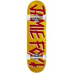"Deathwish Foy Gang Name Veneer Skateboard Complete - 8.375"" - Yellow Stain"