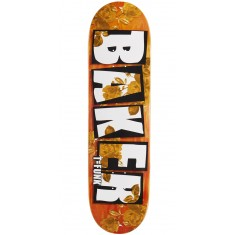 "Baker T Funk Brand Name Rose Gold Skateboard Deck - 8.475"" - Orange Stain"