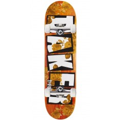 "Baker T Funk Brand Name Rose Gold Skateboard Complete - 8.475"" - Orange Stain"