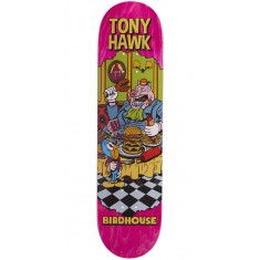 "Birdhouse Hawk Vices Skateboard Deck - 8.00"" - Pink Stain"