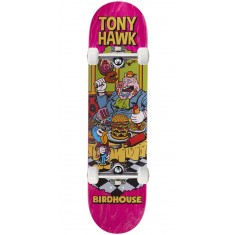 "Birdhouse Hawk Vices Skateboard Complete - 8.00"" - Pink Stain"