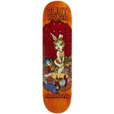 "Birdhouse Walker Vices Skateboard Deck - 8.125"" - Orange Stain"