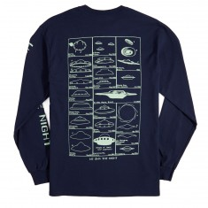 Sausage Night Movers Long Sleeve T-Shirt - Light Green/Navy