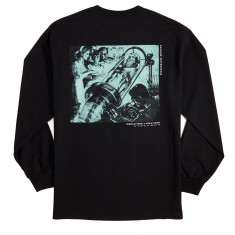 Sausage Experiments In Time Long Sleeve T-Shirt - Green/Black