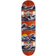 "Real Chima Odyssey Skateboard Complete - 8.02"" - Orange Stain"