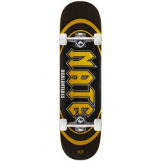 "Real Actions Realized Nate Relentless Skateboard Complete - 8.25"" - Yellow Stain"