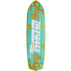 Krooked Piece Out Zagger Skateboard Deck - Yellow Stain