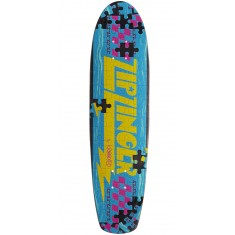 Krooked Piece Out Zinger Skateboard Deck - Black Stain
