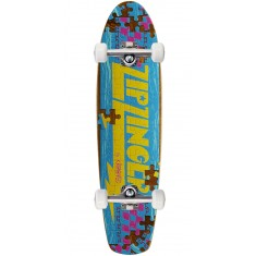 Krooked Piece Out Zinger Skateboard Complete - Brown Stain