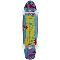 Krooked Piece Out Zinger Skateboard Complete - Red Stain