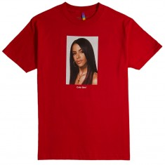 Color Bars x Aaliyah Portrait T-Shirt - Red