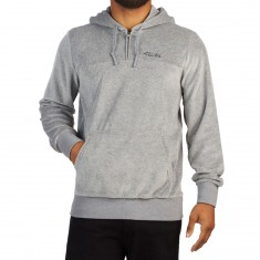 Primitive Velour Quarter Zip Hoodie - Grey