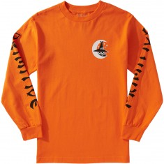 Primitive Night Owl Longsleeve T-Shirt - Orange