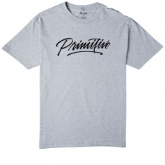 Primitive Pablo Script T-Shirt - Athletic Heather
