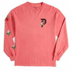 Primitive Dos Flores Over Dye Long Sleeve T-Shirt - Coral