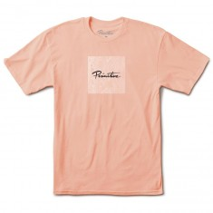 Primitive Nuevo Box Veneer T-Shirt - Salmon