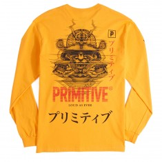 Primitive X Paul Johnson Samuri Long Sleeve T-Shirt - Gold