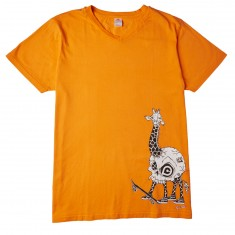 Push Culture Giraffe T-Shirt - Orange