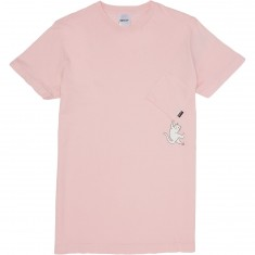 Rip N Dip Hang In There Nermal Pocket T-Shirt - Pink
