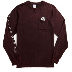 Rip N Dip Lord Nermal Longsleeve Pocket T-Shirt - Bloodwash