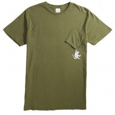 Rip N Dip Hang In There Pocket T-Shirt - Moss