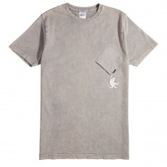 RIPNDIP Hang In There T-Shirt - Grey Mineral Wash