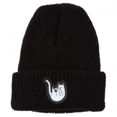 RIPNDIP Falling For Nermal Ribbed Beanie - Black