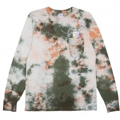 RIPNDIP Flowers For Bae Long Sleeve T-Shirt - Green/Pink Acid Wash
