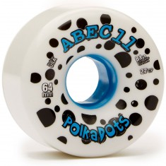 Abec11 Polka Dots White Longboard Wheels - 64mm