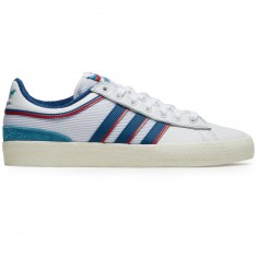 Adidas X Alltimers Campus Vulc Shoes - White/Core Blue/Scarlet