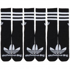Adidas Skateboarding Crew 3-Pack Socks - Black/White