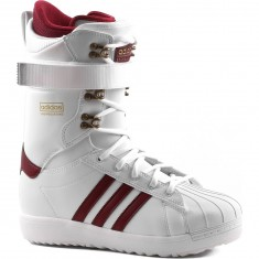 Adidas Superstar ADV Snowboard Boots - White/Burgundy/Gold Metallic
