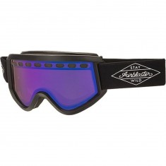 Airblaster Black Diamond Air Snowboard Goggles - Bluebird Lens - Black Matte/Rose Blue Chrome
