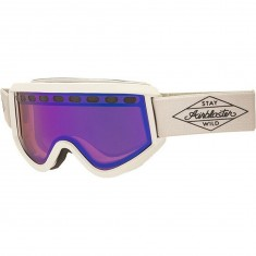 Airblaster Black Diamond Air Snowboard Goggles - Bluebird Lens - Bone Matte/Rose Blue Chrome