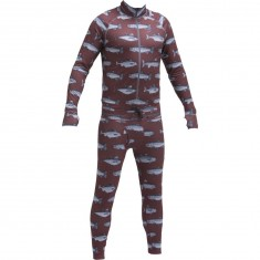 Airblaster Hoodless Ninja Suit - Burgundy Fish