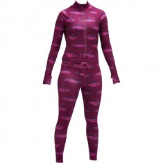 Airblaster Hoodless Womens Ninja Suit - Berry Fish
