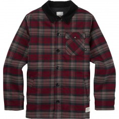 Analog Daily Driver Snowboard Jacket - Wino/Union Plaid