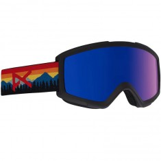 Anon Optics Helix 2.0 W/Spare Snowboard Goggles - Orange/Blue Cobalt