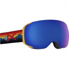 Anon Optics M2 MFI Snowboard Goggles - Range Orange/Sonar Blue