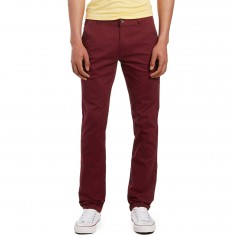 CCS Slim Fit Chino Pants - Burgundy