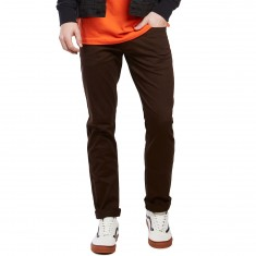 CCS Slim Fit 5 Pocket Twill Pants - Chocolate