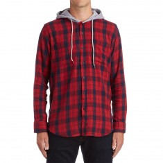 CCS Hooded Flannel Shirt - Burnside Red