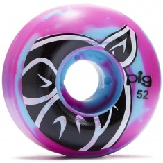 Pig Head Swirl Speedline Skateboard Wheels - 52mm