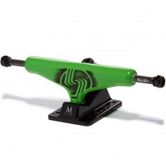 Silver M-Class Skateboard Trucks - Neon Green