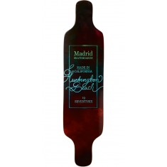 "Madrid Dream 39"" Top Mount Longboard Deck - Vino"
