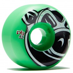 Pig Head Conical Skateboard Wheels - Green - 52mm