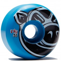 Pig Head Conical Skateboard Wheels - Blue - 55mm