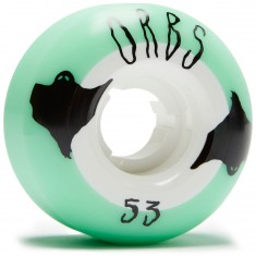 Welcome Orbs Poltergeists Skateboard Wheels - Mint/White - 53mm 104A