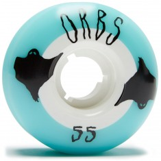 Welcome Orbs Poltergeists Skateboard Wheels - Light Blue/White - 55mm 104A