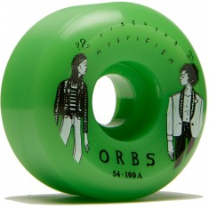 Welcome Orbs Fantasmas Skateboard Wheels - Neon Green - 54mm 100A